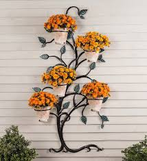 hanging tree trellis with pumpkin flower pot holders so that u0027s