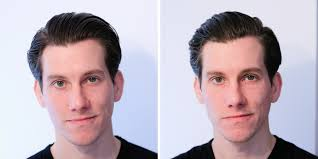 hair parting mid length side part hairstyle