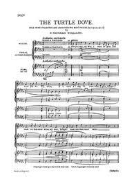 ralph vaughan williams the turtle dove ttbb piano