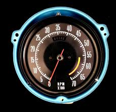 vintage corvette logo tachometer repair and restoration