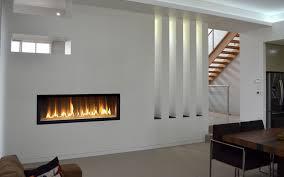linear gas fireplace insert binhminh decoration