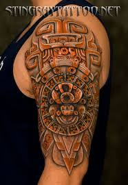 25 unique aztec tattoos sleeve ideas on pinterest aztec tattoo