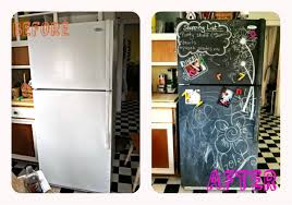 the patchwork paisley refrigerator make over with chalkboard paint