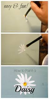 hand paint a simple daisy paintings craft and canvases