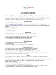 Office Manager Job Description Resume by Job Description Office Manager Facc Chicago Job Description