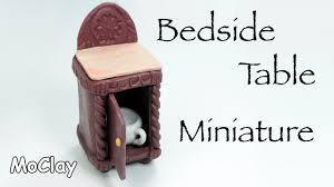 How To Make Homemade Dollhouse Furniture Diy Dollhouse Furniture How To Make A Bedside Table Youtube