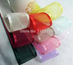 sheer organza ribbon free shipping 25mm 1 2 5cm wedding party high quality craft satin