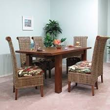 Dining Table With Rattan Chairs Banana Leaf Chairs Foter
