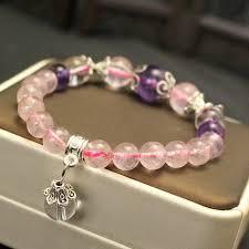 crystal bracelet diy images Joursneige pink natural crystal bracelets beads hand string for jpg