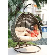 Swing Chairs For Patio Great 2 Seat Wicker Hanging Swing Chair Patio Furniture