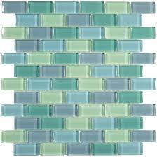 Green Glass Backsplashes For Kitchens Mosaic Backsplash Tags Turquoise Tile Backsplash Stone
