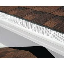3 ft white snap in filter gutter guard 25 pack house