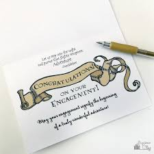 harry potter congratulations card harry potter diy engagement and wedding card bugaboocity