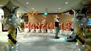balloons for 18th birthday 18th year birthday balloon decoration by artsyballoons