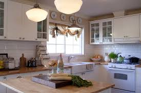 farmhouse curtains kitchen traditional with white pottery glass