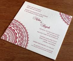 south asian wedding invitations south asian wedding trends mandalas letterpress wedding
