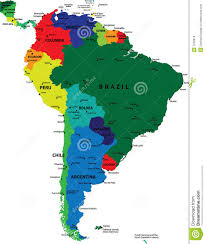 South America Map Countries by South America Political Map Royalty Free Stock Photos Image 7226918