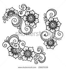 mehndi design stock vectors u0026 vector clip art shutterstock