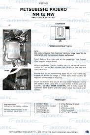 dual battery tray system mitsubishi pajero ns nw 2006 2015