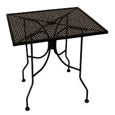 Square Patio Table by Metal Mesh Patio Tables Metal Mesh Outdoor Furniture