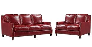 oakridge leather living room set red leather italia furniture cart
