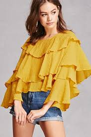 ruffle blouse tiered ruffle blouse forever21