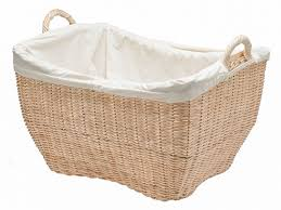 wicker laundry hampers amazon com kouboo wicker laundry basket with liner natural color