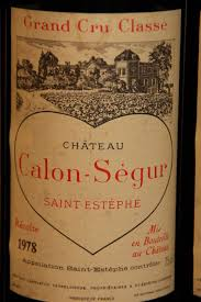 château calon ségur grand cru 1978 chateau calon ségur estephe 3ème grand cru classé 6
