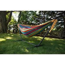 vivere double hammock with stand combo walmart com
