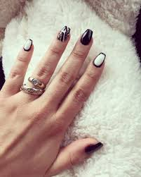nail polish black and white acrylic nails awesome black matte