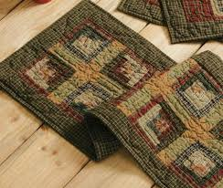 primitive country quilted table runners
