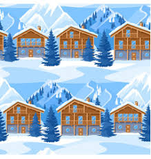 chalet houses alpine chalet houses winter resort royalty free vector image