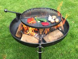 fire pit poker fire pit plain jane collection with swing arm bbq rack firepits uk