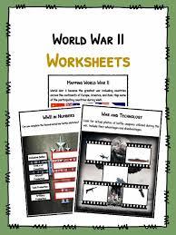 world war ii ww2 facts u0026 worksheets teaching resource