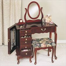 Beautiful Makeup Vanities Dazzle Makeup Vanity Table With Brown Wooden Material And