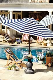 Blue And White Striped Patio Umbrella Striped Patio Umbrella At Home And Interior Design Ideas