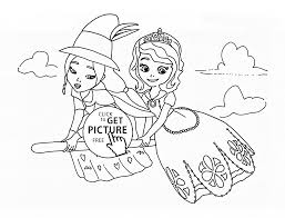 lucinda and sofia the first coloring page for kids disney for