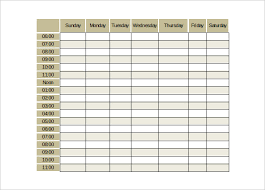 Weekly Calendar Template Excel Monthly Schedule Template Cyberuse