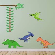 dinosaur height chart wall sticker by mirrorin dinosaur height chart wall sticker