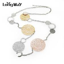 long flower necklace images Longway vintage long statement necklace gold color silver color jpg