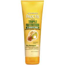 Deep Conditioner For Color Treated Hair Garnier Fructis Triple Nutrition 3 Minute Undo Dryness Reversal