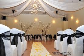 Wedding Ceremony Decoration Ideas Black And White Wedding Ceremony Decorations 8170