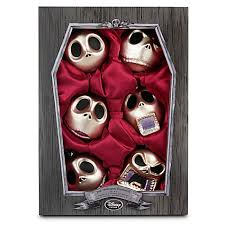 faces of skellington ornament set