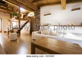 chalet style a chalet style house with wooden window shutters in ollon stock