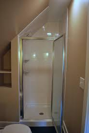 bathroom small white attic bathroom with glass shower door ideas