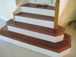 tiles wood stair nosing for ceramic tile image of cherry