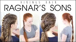 viking hairstyles vikings hairstyles for men ragnar s sons youtube