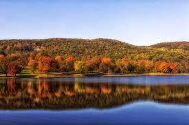 Squantz pond autumn landscape in connecticut autumn connecticut
