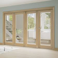 deanta fold oak unfinished room divider frame leader doors