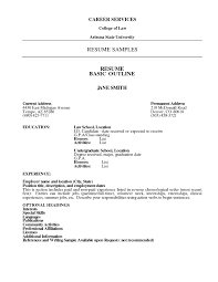 Basic Resume Outline Templates Examples Of Basic Resumes Resume Format Download Pdf